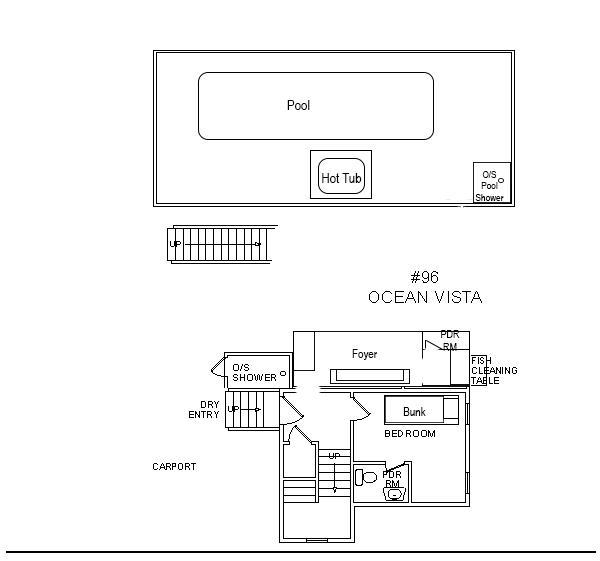 Ocean Vista, 5 bedroom Semi-Ocean Front home in Waves, OBX, NC