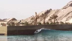 Chippa Wilson at the Al Ain Wadi Adventure Wave Pool