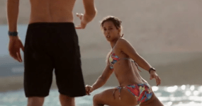 Sally Fitzgibbons Wadi Adventure Wave Pool Project Poolside | Stetching with Dan Ross