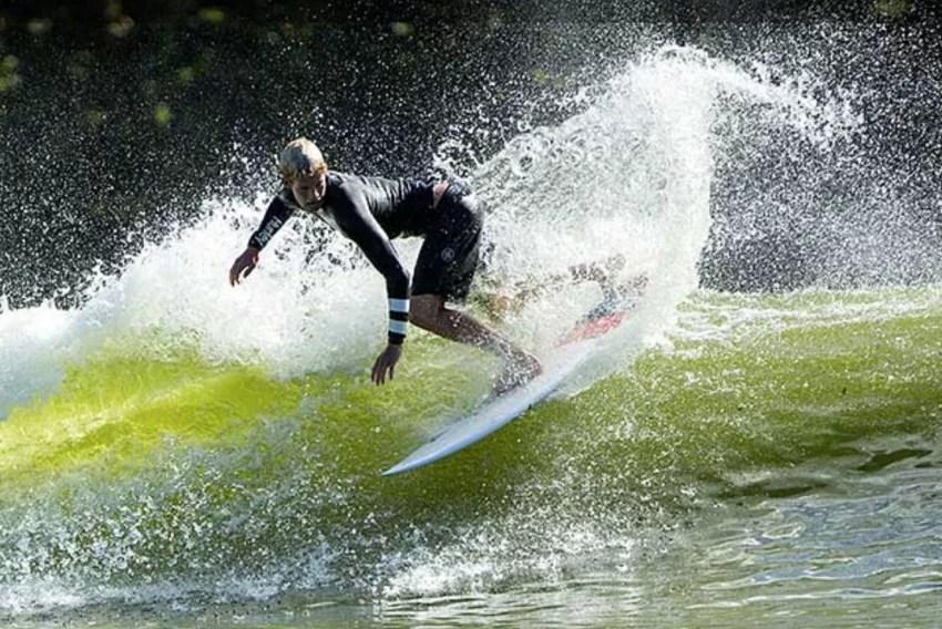 John John Florence Surfing Beyond the Ocean at Wavegarden