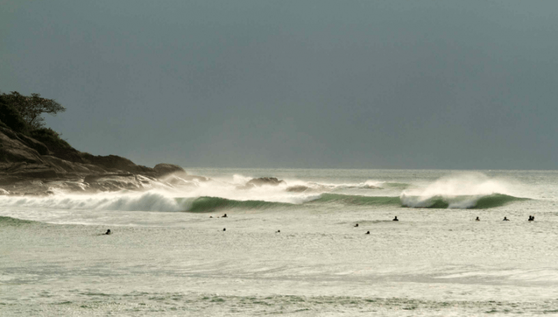 The world class left point break at Riyue Bay is home to Hainan's International Surfing Festival