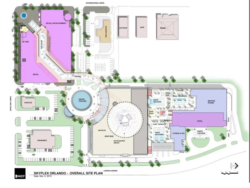 Skyplex Sky Surf Park Overall Site Plan Orlando Florida