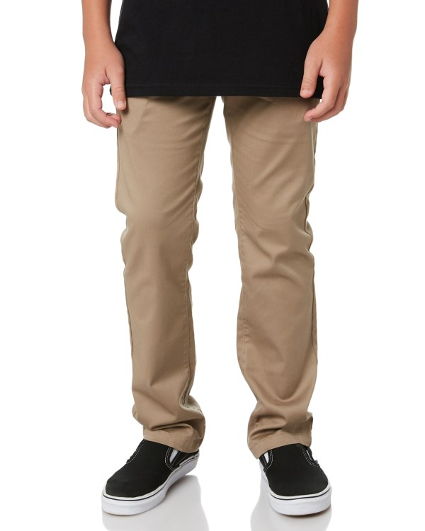 Volcom Kids Boys Frickin Modern Stretch Pant - Khaki Surfstitch
