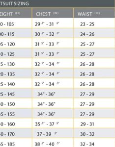 Please click on the image below to see  larger version of size chart also oneill reactor convertible surfstore rh