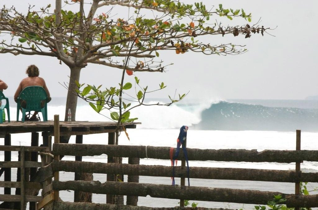 chris bertish chilling on the deck south sumatra
