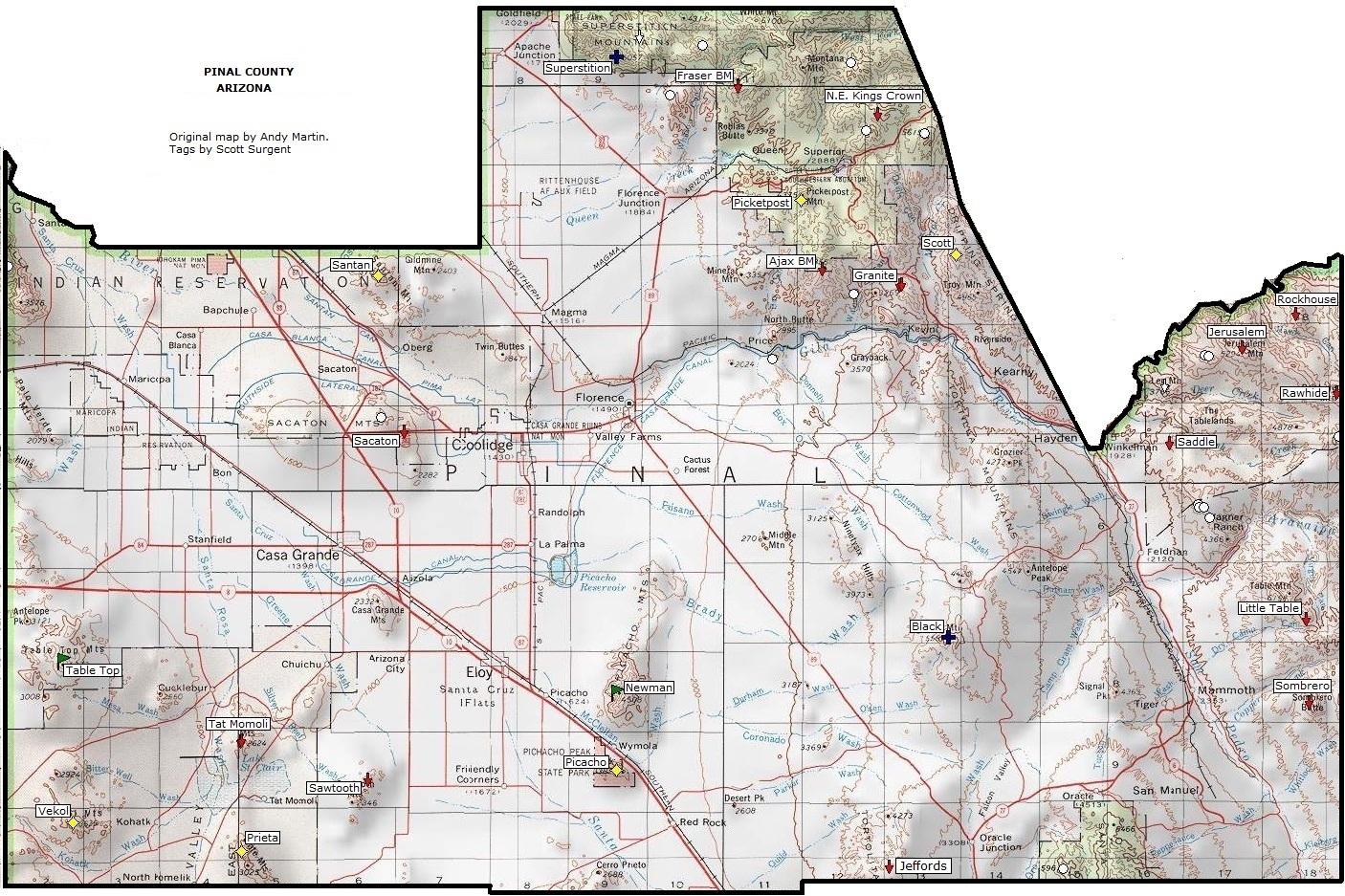 Pinal County Zip Code Map.Map Pinal County Az Zip Code