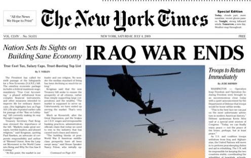 Journal New York Times - Example de design fiction