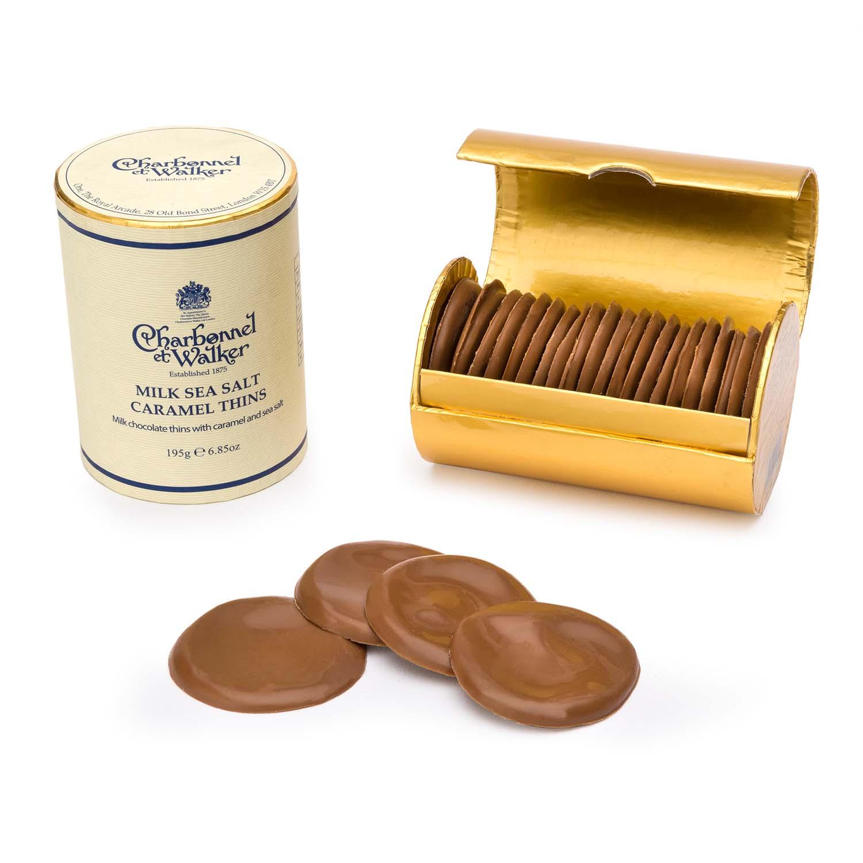 Charbonnel et Walker Milk Chocolate Thins with Caramel and Sea Salt | Sur La Table