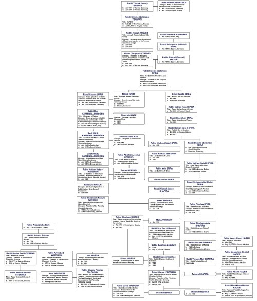 small resolution of 7 savran bendery chassidic dynasty diagram
