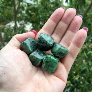 Ruby in Zoisite tumble stones