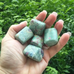 Ruby in Fuchsite tumble stones