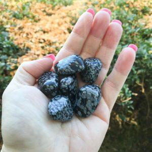 Snowflake obsidian tumble stones