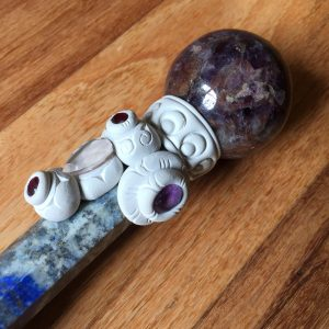 14 inch tibetan crystal healing wand