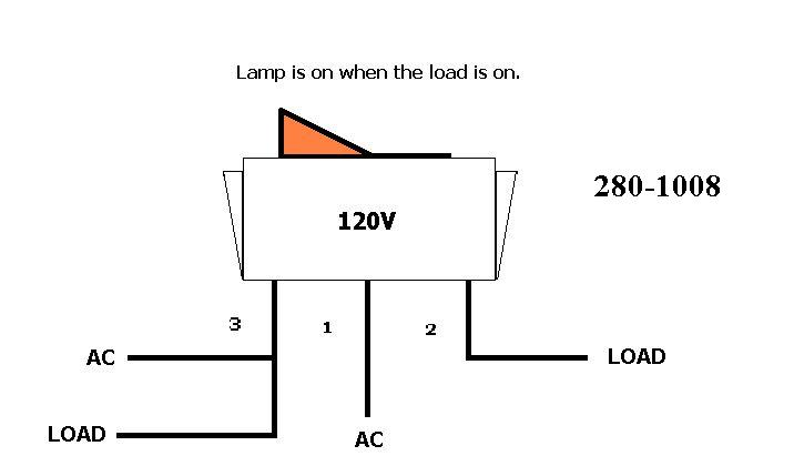 wiring a lamp with toggle switch