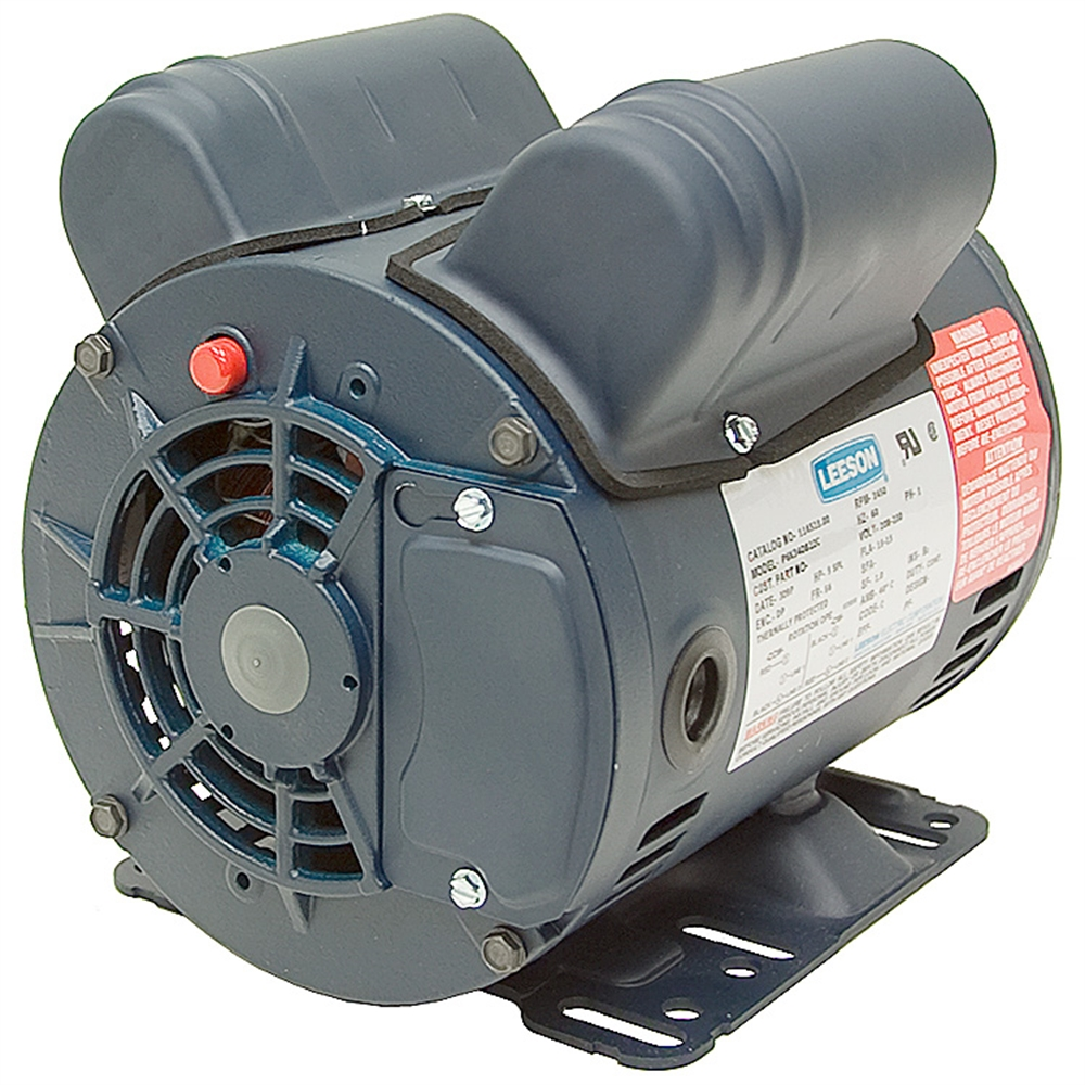 medium resolution of 5 hp special duty 230 volt ac 3450 rpm leeson air compressor motor alternate 1