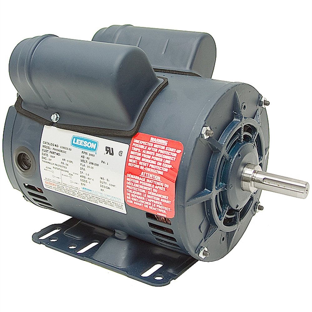 medium resolution of 5 hp special duty 230 volt ac 3450 rpm leeson air compressor motor leeson 5 hp compressor motor wiring