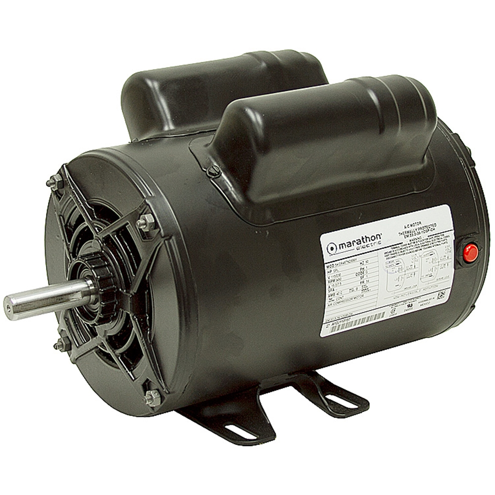 medium resolution of 2 hp 115 230 3450 rpm marathon air compressor motor