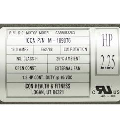 2 25 hp icon health and fitness treadmill motor m 189076 alternate 2 [ 1000 x 1000 Pixel ]