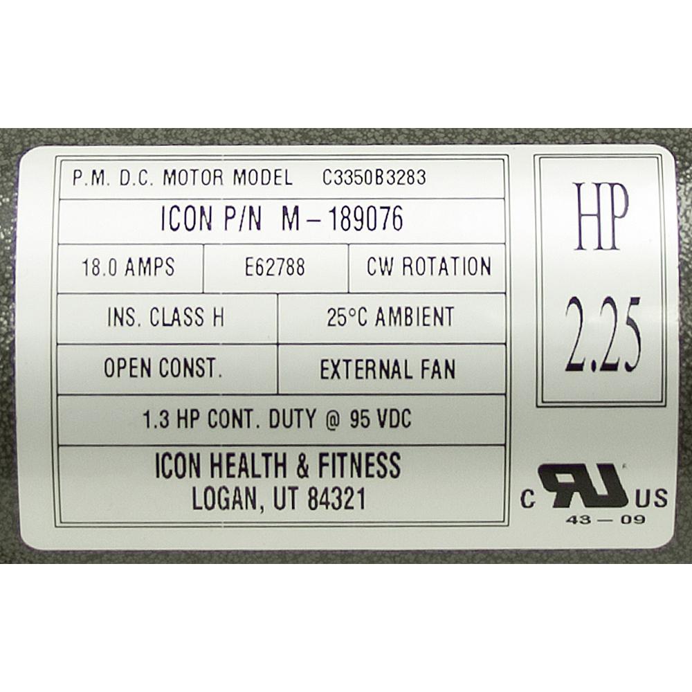 medium resolution of 2 25 hp icon health and fitness treadmill motor m 189076 alternate 2