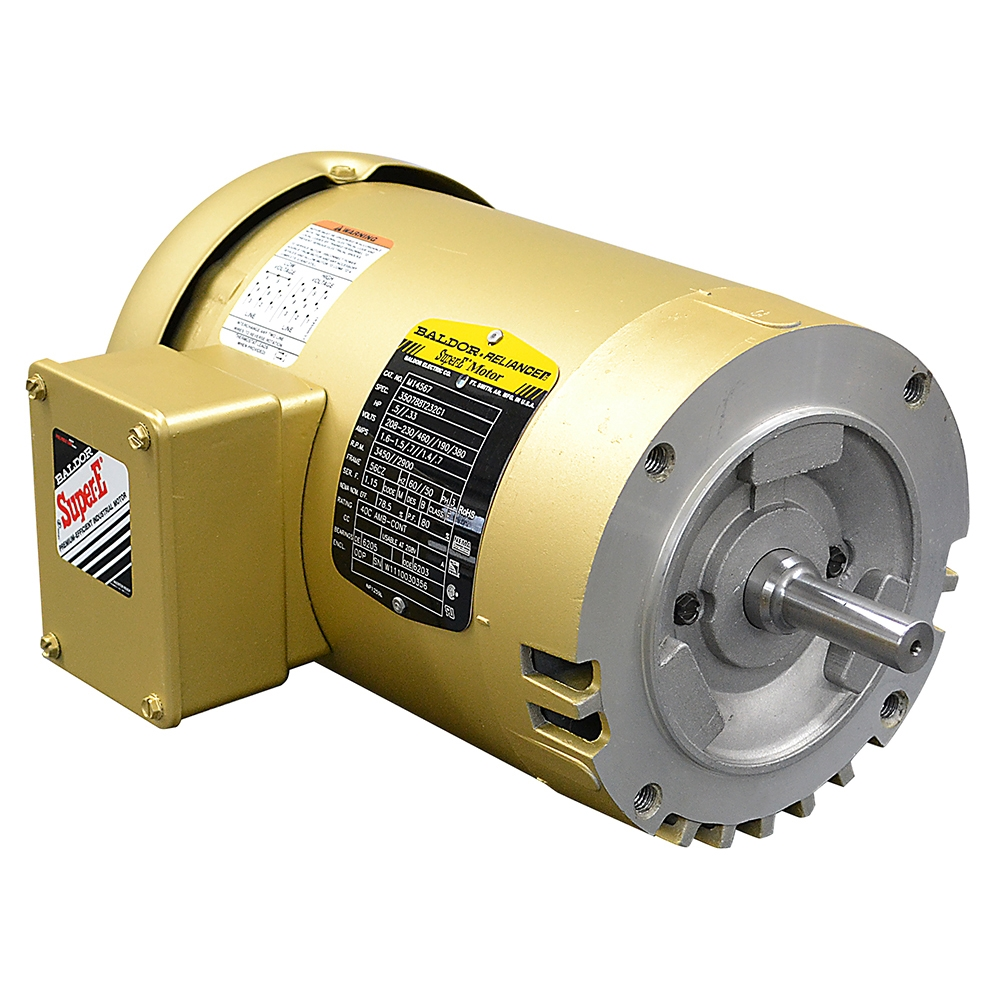 medium resolution of 1 2 hp 3450 rpm 208 230 460 volt ac 3ph baldor motor 3 phase 230 460 baldor motors baldor 1 5 hp electric motor wiring 3 phase