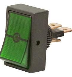 hella h61923001 spst led green rocker switch [ 1000 x 1000 Pixel ]
