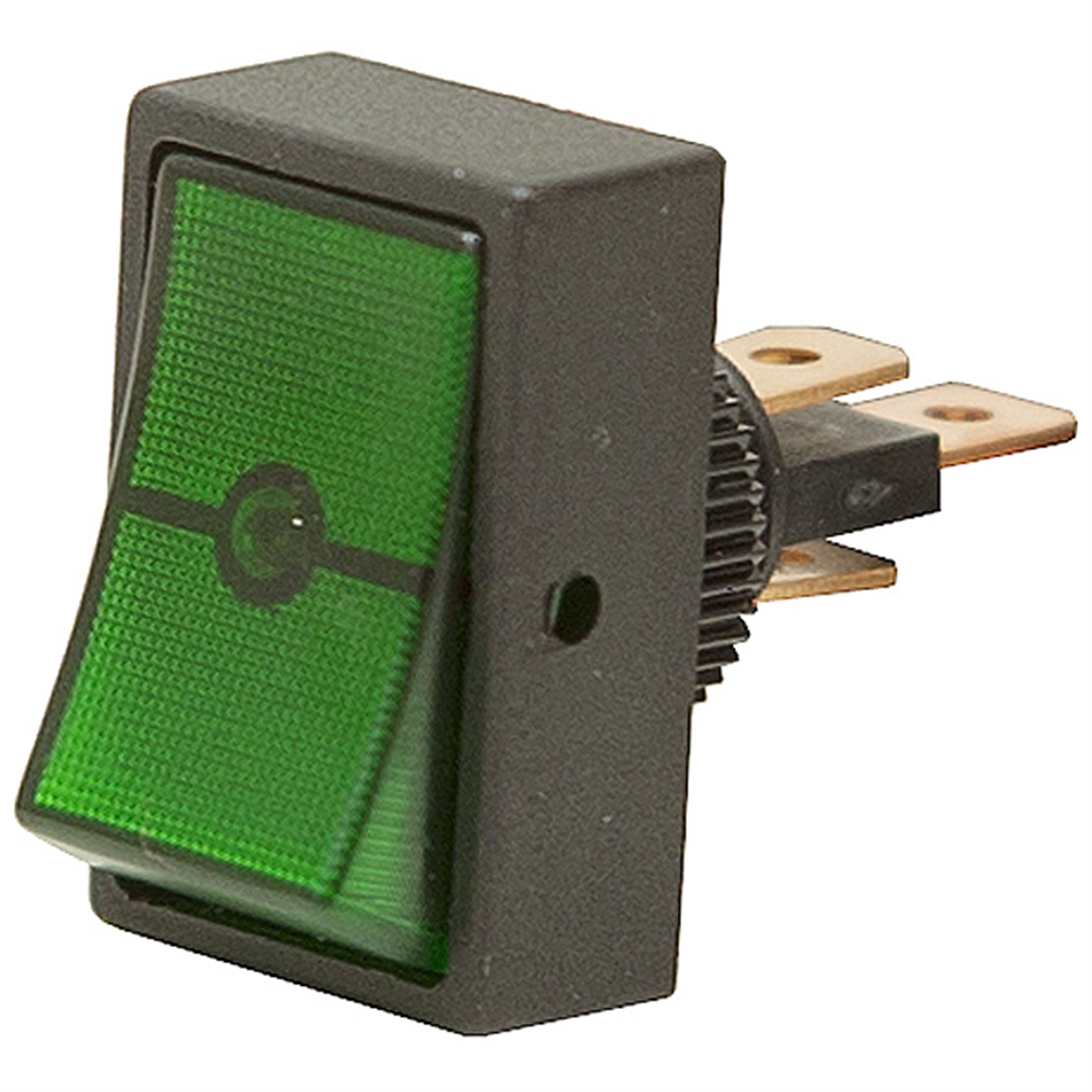 medium resolution of spst lighted green 12 volt dc rocker switch zoom