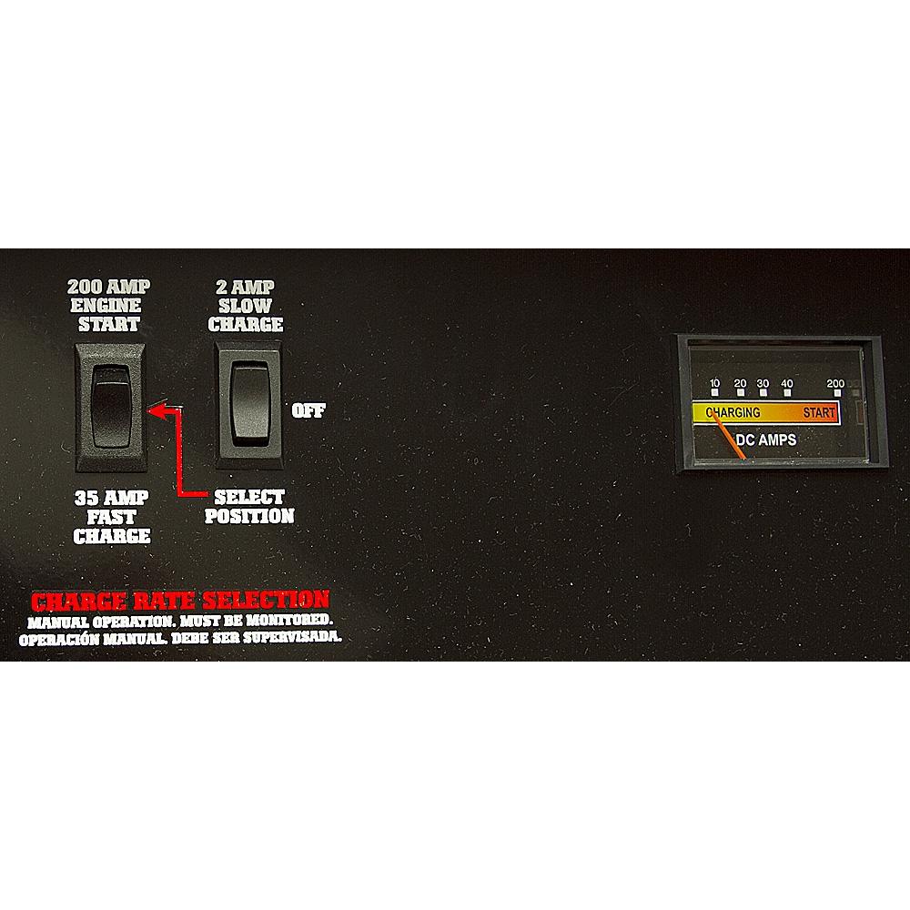 hight resolution of 2 35 200 amp schumacher battery starter charger alternate 3