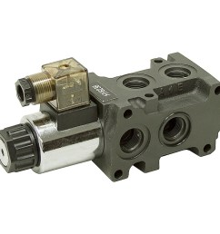 12 24 volt dc 13 2 gpm sae 8 solenoid operated double selector valve [ 1000 x 1000 Pixel ]