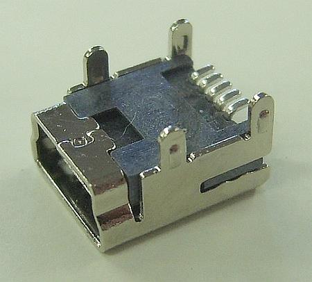 USB Mini 5-Pin PCB Mount Connector