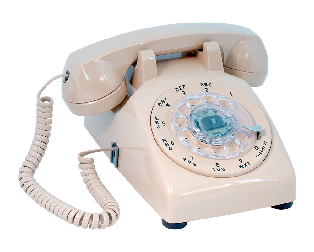 hight resolution of beige rotary phone