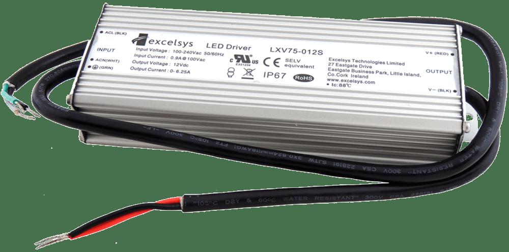 Excelsys LXV75-012S 75 Watt12vDC Constant Voltage LED