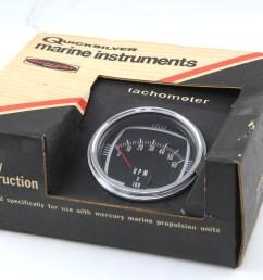 details about quicksilver mercury thunderbolt ignition tachometer rpm 0 60 65794 a2 [ 1600 x 1067 Pixel ]