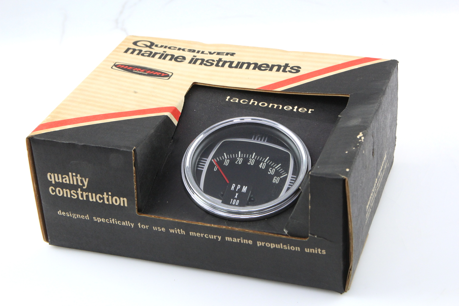 hight resolution of details about quicksilver mercury thunderbolt ignition tachometer rpm 0 60 65794 a2