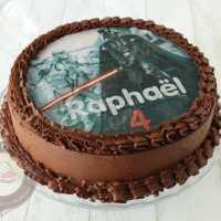 Layer cake tout chocolat { Dark Vador }