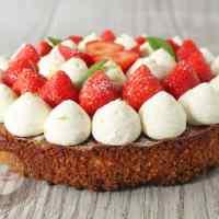 Tarte aux fraises avec les biscuits de La Mère Poulard