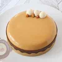 Le choc'carahuète (entremets chocolat, caramel et cacahuète )