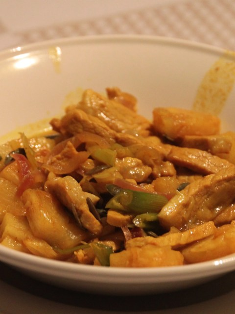 curry pork stew with pineapple