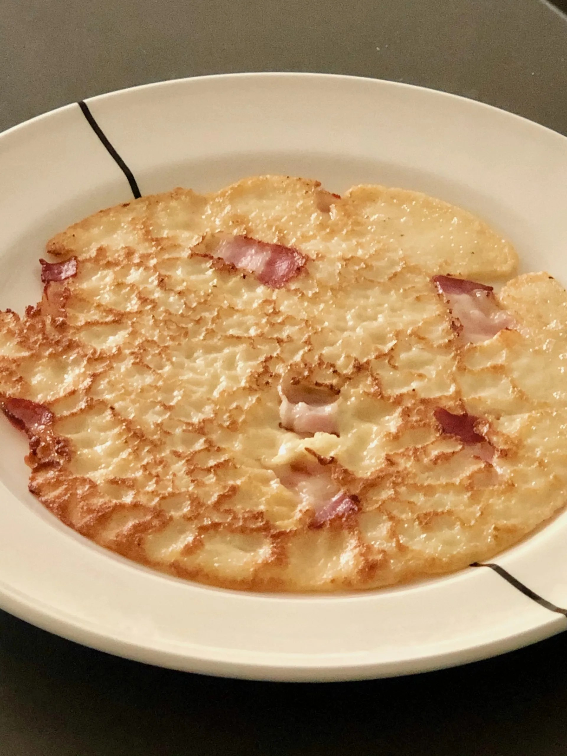 bacon pancake with syrup