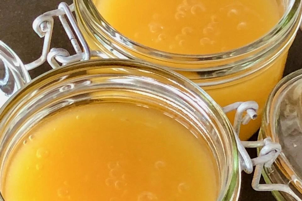 canary yellow lemon curd
