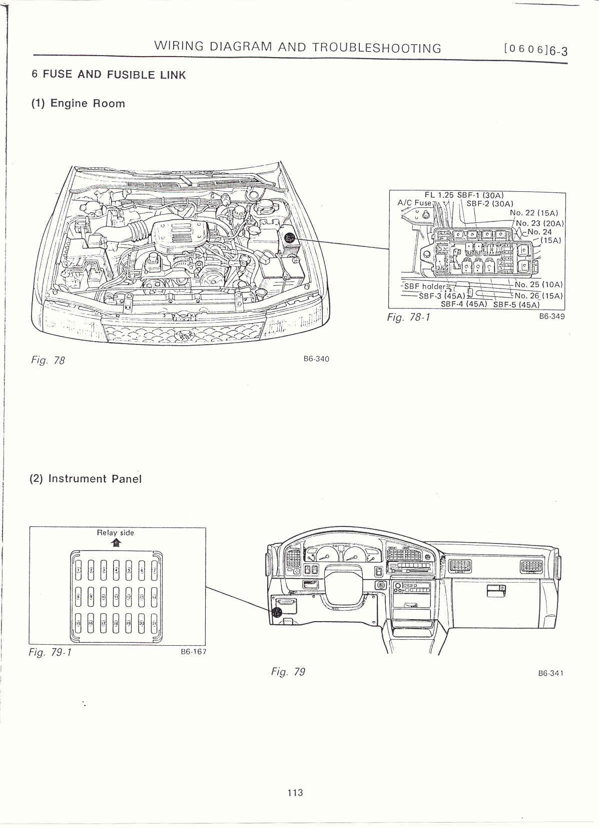 Subaru Outback 2001 Engine Room Fuse Box Diagram : 48