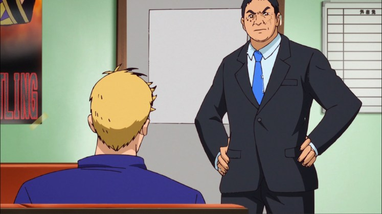 Yuji Nagata in a suit? Only in anime.