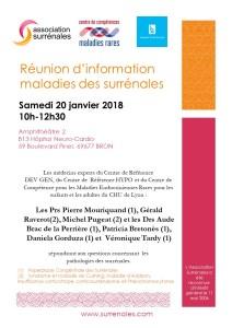 Réunion Lyon le 20 janvier 2018