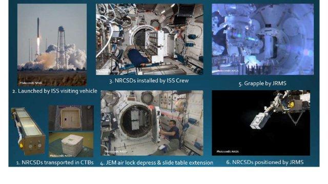 Varie fasi della missione RemoveDEBRIS. Credit: University of Surrey