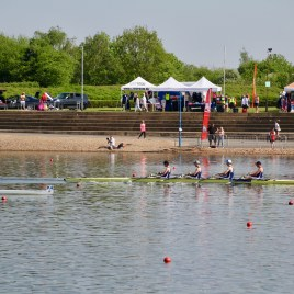 The men's intermediate quad winning their final