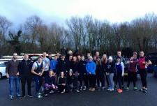 February training camp at Dorney Lake.