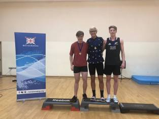 Sam (M) and Cam (R) having come 1st and 3rd at BUCS Indoors 2018