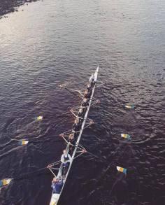 Women's beginner 8+ racing at Tyne Head 2019