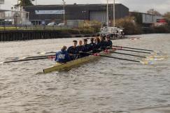 Men's beginner 8+ 'B' having pushed off