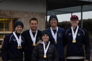 Men's beginner 4+ 'A' gold medallists
