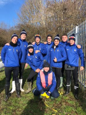 Development Men moments before their first race at BUCS Head 2020